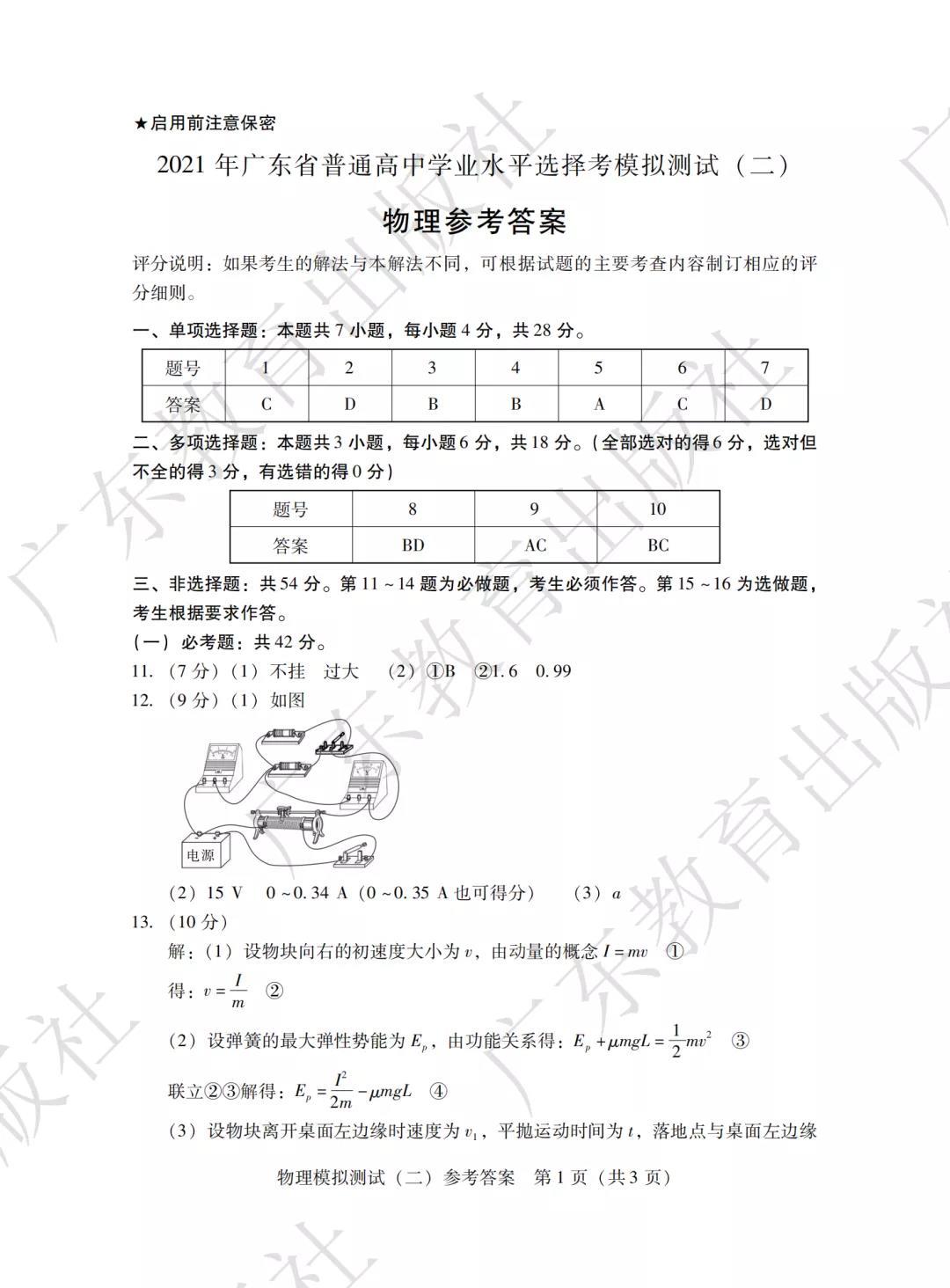 刚刚!2021广东高三二模英语考试结束,来对答案(物理、历史、英语及日语)